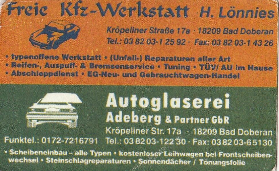 Der Betrieb Freie Kfz Werkstatt H Lönnies